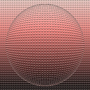 Optical Illusion Digital Art Posters - Optical illusion Pink Ball Poster by Sumit Mehndiratta