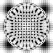 Optical Illusion Digital Art Posters - Optical Illusion Plastic Ball Poster by Sumit Mehndiratta