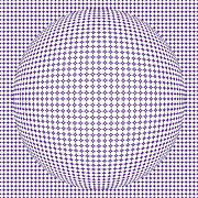 Optical Illusion Digital Art Posters - Optical Illusion Purple Ball Poster by Sumit Mehndiratta