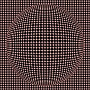 Optical Illusion Red Ball  Print by Sumit Mehndiratta