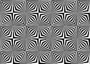 Monochrome Digital Art - Optical illusion spots or stares by Sumit Mehndiratta