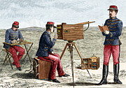Flashing Photo Prints - Optical Telegraphy, 19th Century Print by Sheila Terry