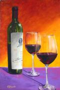 Napa Valley Vineyard Paintings - Opus One by Patrick ORourke
