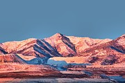 Red Mountains Prints - Oquirrh Mountains Utah First Snow Print by Tracie Kaska