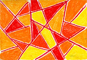 Red Pastels - Orange Abstract by Hakon Soreide