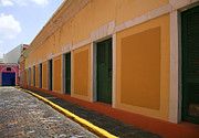 Caribbean Architecture Prints - Orange Alley Print by Timothy Johnson