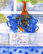 Atlas Originals - Orange and Blue Glass by Jane Loveall