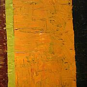Textural Paintings - Orange and Brown by Michelle Calkins