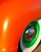 Transportation Framed Prints Prints - Orange and Green Print by Brian Mollenkopf