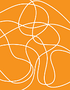 Graphics - Orange and White Abstract by Dave Gordon