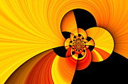 Alienation Prints - Orange and yellow Print by Kristin Kreet