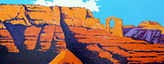 Canyons Paintings - Orange Arch by Darrell Sheppard