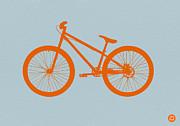 Orange Bicycle  Print by Irina  March