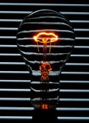 Bayonet Photo Prints - Orange Bulb Print by Rob Hawkins
