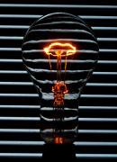 Orange Bulb Print by Rob Hawkins