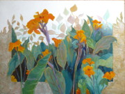 Golds Prints - Orange Cannallies Print by Lori Quarton
