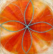 Metaphysics Prints - Orange Chakra Print by Anne Cameron Cutri