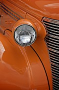 Sherry Davis Posters - Orange Chevrolet Poster by Sherry Davis