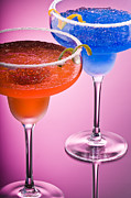 Frozen Drink Prints - Orange Cobalt Margarita Print by Ulrich Schade
