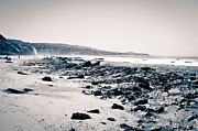 Tide Pools Prints - Orange County California Black and White Print by Paul Velgos