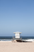 Huntington Prints - Orange County California Lifeguard Tower Print by Paul Velgos