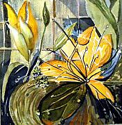 Floral Still Life Originals - Orange Day Lily by Mindy Newman