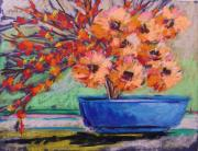 Painter Pastels Prints - Orange Drama Print by John  Williams