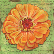 Orange Floral Framed Prints - Orange Dream Framed Print by Debbie DeWitt