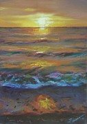 Cape Cod Pastels Originals - Orange dream by Laura Craciun