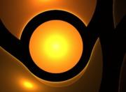 Orange Eye Print by Stefan Kuhn