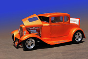 Deuce Coupe Framed Prints - Orange Five Framed Print by Bill Dutting