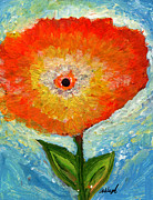 Dream Scape Prints - Orange Flower Pop  Print by Ashleigh Dyan Moore