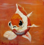 Barbara Haviland Framed Prints - Orange Goldfish Framed Print by Barbara Haviland