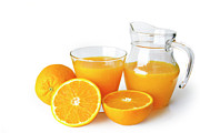 Refreshing Metal Prints - Orange Juice Metal Print by Carlos Caetano