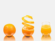 Peeled Prints - Orange Juice Print by Gert Lavsen