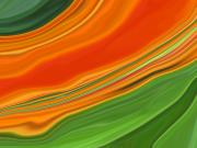 Orange Kalanchoe Abstract Print by Linnea Tober