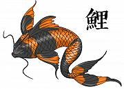Devaron Jeffery - Orange Koi Fish with...