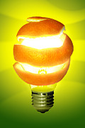 Imagination Photo Posters - Orange Lamp Poster by Carlos Caetano