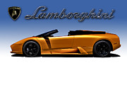 Furious Framed Prints - Orange Murcielago Framed Print by Douglas Pittman
