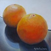 Orange Noir Et Blanc Print by Muriel Dolemieux