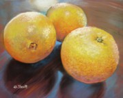 Donna Shortt Originals - Orange on Blue by Donna Shortt