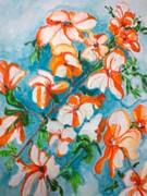 Seema Sharma - Orange Orchids