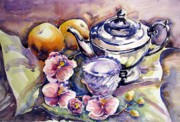 Teapot Paintings - Orange Pekoe by Chito Gonzaga
