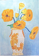 Barbara Anna Knauf - Orange Poppies in Water...