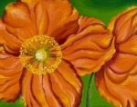 Orange Poppy Paintings - Orange Poppies by Sweta Prasad