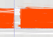 Brush Paintings - Orange Rectangle by Irina  March