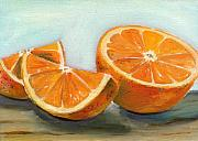 Food And Beverage Painting Prints - Orange Print by Sarah Lynch