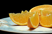 Citrus Digital Art Prints - Orange Slices Print by Andee Photography