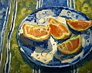 Interior Still Life Painting Metal Prints - Orange Slices Metal Print by Brian Simons