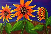 James Dunbar - Orange Sunflowers Blue...